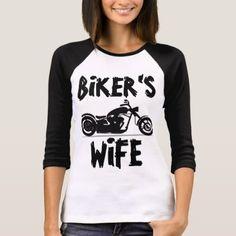 #women - #BIKER'S WIFE Ladies Motorcycle T-shirts