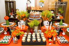 Festa de aniversário, tema Chaves. Ideas Para Fiestas, Dessert Table, Party Themes, Party Ideas, Table Settings, Birthday Parties, Table Decorations, Churros, 1