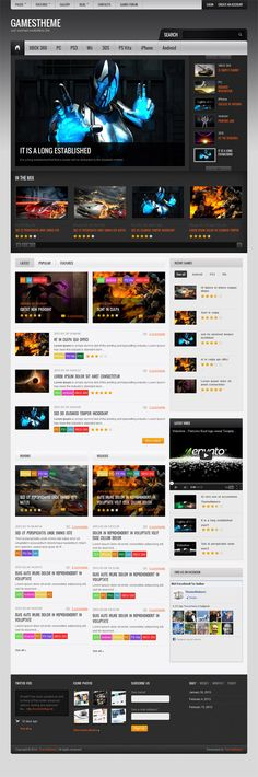 GamesTheme, Premium WordPress Arcade Portal Theme