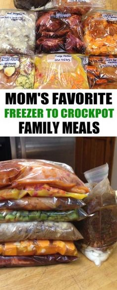 30 Crockpot Freezer Meals - Crockpot Family Meals: Prepare 30 freezer to crockp. - 30 Crockpot Freezer Meals – Crockpot Family Meals: Prepare 30 freezer to crockpot meals in 3 hou - Freezable Meals, Slow Cooker Freezer Meals, Easy Freezer Meals, Make Ahead Meals, Healthy Crockpot Recipes, Healthy Crockpot Freezer Meals, Hamburger Crockpot Meals, Freezer Meal Recipes, Quick Family Meals