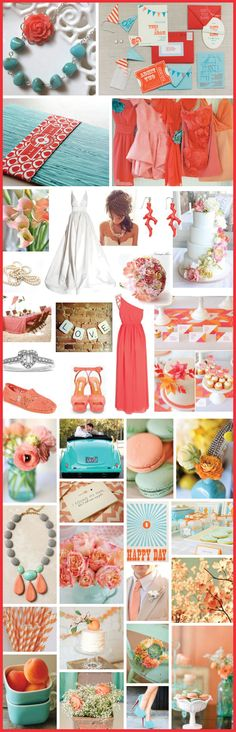 Coral & Turquoise Wedding Details - Hot Colors!!! - 2014