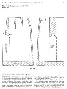A Skirt with Two Knife Pleats and One Centre Inverted Pleat - Women's Cutter and Tailor - The Cutter and Tailor