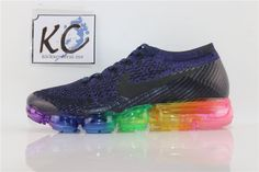 "NIKE AIR VAPORMAX FLYKNIT ""black colorful"" 883275-400 Nike Air Vapormax, Colorful, Sneakers, Shoes, Black, Fashion, Tennis, Moda, Slippers"