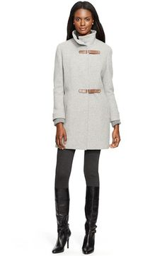 Free shipping and returns on Lauren Ralph Lauren Lauren RalphLauren Tab Front Wool Blend Coat at Nordstrom.com. Two equestrian-inspiredtabs secure the asymmetricalfront of a chic funnel-collar coat tailored from a soft wool-blend tweed. Ribbed knit stormcuffs add a cozy touch.