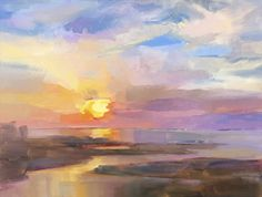"""""""Summer Glow"""" by Holly Ready. Oil on Panel. 18"""" X 24"""". Available at www.maine-art.com."""