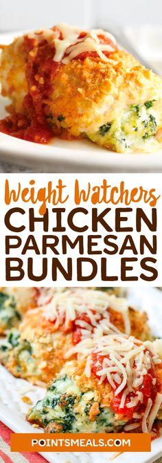 #weight_watchers Chicken Parmesan Bundles #chicken #parmesan