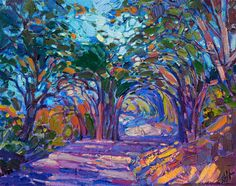 View Erin Hanson's current portfolio of contemporary impressionism oil paintings, available for purchase online or from her art galleries in Carmel-by-the-Sea and San Diego. Oil Pastel Paintings, Unique Paintings, Paintings For Sale, Abstract Landscape, Landscape Paintings, Abstract Art, Modern Impressionism, Landscape Pictures, Art World