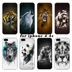 Under the latest tiger watercolor animal orangutan on wolf protection shell the for iPhone4 4S phone cases,Free shipping