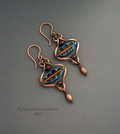 bead and wire earrings by rosalind