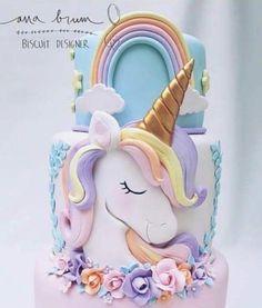 Los pasteles de unicornio más hermosos y originales - Единорог - Cupcakes, Cupcake Cakes, Unicorn Cake Design, Bolo Fack, Unicorn Foods, Unicorn Cakes, Rodjendanske Torte, Pony Cake, Unicorn Birthday Parties