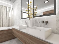 Contemporary bathroom cladded in grey marble Czech Republic, Bathrooms, Marble, Bathtub, Contemporary, Grey, Design, Standing Bath, Gray