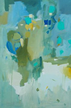 Large abstract painting original acrylic painting by pamelam, $275.00