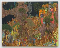 JP Munro, The Fall of Babylon, 2014 Oil on Linen 46 x 60inches (121.9 x 152.4cm)