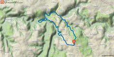"""[Aveyron] L'enduro de Colombiès circuit vert (20 km) A l'origine, ce tracé était une épreuve d'endurance équestre organisée par l'Eperon de Colombiès. Et du cheval au vélocipède, le pas est vite franchi.  Le revoici décrit sous sa forme VTT rebaptisé """"enduro"""" pour la circonstance, alternant chemins d'exploitations forestiers, sympathiques monotraces en forêt, petites routes revêtues et larges pistes gravillonnées."""