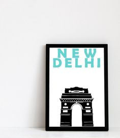 New Delhi Print Indian Art Poster Gift