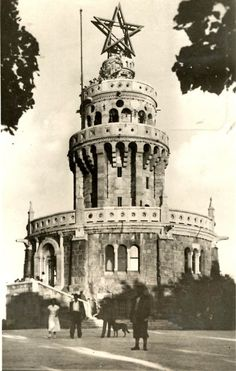 The Elisabeth Lookout tower on Jánoshegy, Budapest, as it looked in 1952