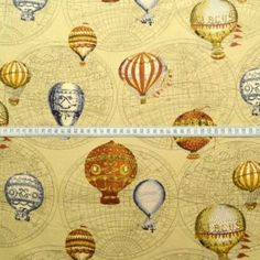 Cotton canvas fabric with a hot air balloon print Purse Patterns, Sewing Patterns Free, Canvas Fabric, Cotton Canvas, Printed Balloons, Fabric Shop, Fabric Online, Air Balloon, Soft Furnishings