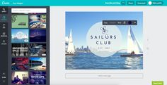 Canva - Online subscription graphic design tool.