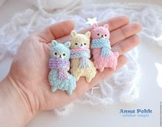 Cute Polymer Clay, Polymer Clay Animals, Cute Clay, Polymer Clay Miniatures, Fimo Clay, Polymer Clay Charms, Polymer Clay Creations, Ceramic Clay, Alpacas