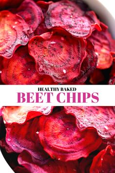 Slightly sweet and crunchy with a hint of sea salt and no oil added. The perfect guilt-free snack everyone with love! Healthy Baked Snacks, Vegan Snacks, Healthy Baking, Baking Snacks, Healthy Chips, Healthy Muffins, Meat Appetizers, Appetizer Recipes, Snack Recipes