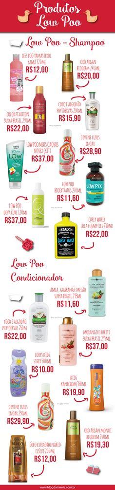 Produtos Low Poo - Blog da Mimis - Lista com os TOP produtos especiais para o tratamento capilar low poo! #lowpoo #sulfato #cowash #hair #cabelos #cachos #oleosidade #crespos #curl