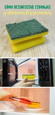 Para la limpieza de la casa, las esponjas son indispensables; las esponjas se usan en la cocina, el baño y hasta para la regadera. Pero estos instrumentos siempre guardan bacterias. Sigue este súper secreto para saber cómo desinfectar esponjas rápido y fácil.