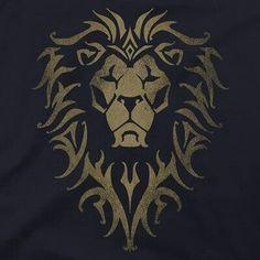 T-shirt Premium avec logo Warcraft Movie Alliance Logo Lion, Body Art Tattoos, Tattoo Drawings, Alliance Logo, Warcraft Movie, Lion Images, Typographie Logo, Lion Wallpaper, Lion Design