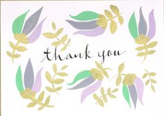 Thank you card (set of 5) by MEIKOILLUSTRATION on Etsy