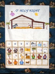 nativity calendar machine embroidery