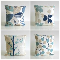 Pillow Cover 18 Inch Duck Egg Blue Cushion by CoupleHome Duck Egg Blue Cushions, Blue Pillows, Throw Cushions, Toss Pillows, Blue Cushion Covers, Cushion Cover Designs, 20x20 Pillow Covers, Decorative Pillow Covers, Contemporary Pillow Covers