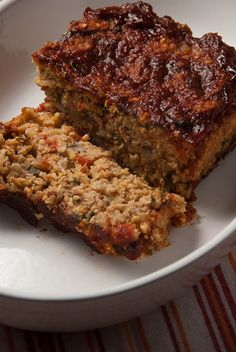 """LOL (Lentil-Oat-Loaf)  from """"My Beef With Meat"""""""