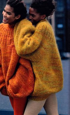 ~WOW!  I made this sweater.  It was fun to wear. Tiziano Magni for The New York Times Magazine/Fashions of the Times, August 20, 1989. Sweaters by Marc Jacobs for Perry  Ellis. Golden Oldie!!