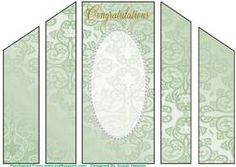 Light Green Fancy  Pearl Theatre Card Base 9 on Craftsuprint - View Now!