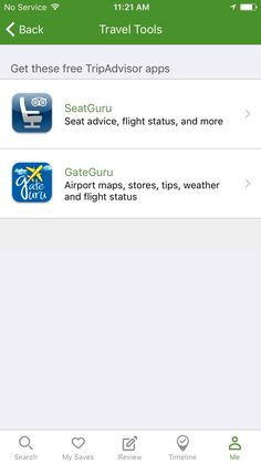 TripAdvisor travel tools
