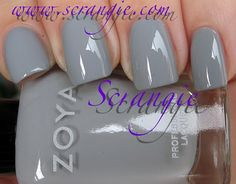 Love blue-gray nail polishes.