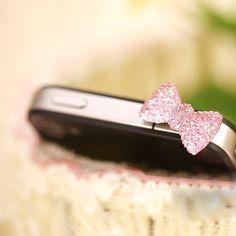 Cute Crystal Bow Dust Plug