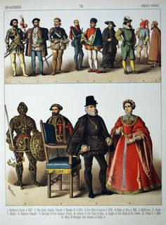 History of Costume | Description 1500-1600, Spanish. - 071 - Costumes of All Nations (1882 ...