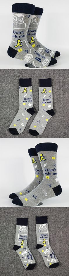 Men's Internet Time Skate Casual Socks USA Size 8-11,Euro Size 41-44 (Faulty Same Foot)