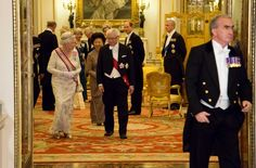 Gala dinner at Buckingham Palace in honor of the President of Singapore and his wife. Oct. 21, 2014.