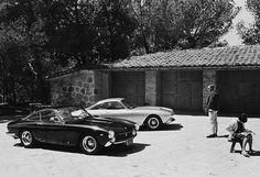 This is one of my favorite Steve McQueen pics. Only 350 examples of the Lusso were built over the model's short two-year production run, and it remains one of the most admired and desirable Ferrari cars of all time. Steve McQueen was an absolute car nut (unlike his wife Neile) and owned two of these cars. He could often be found racing one of his Ferrari 250 GT Lusso Berlinetta's through Los Angeles.