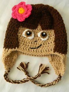 Dora the explorer crochet hat