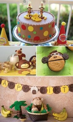 boy first birthday party monkey theme ideas Monkey 1st Birthday