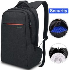 LAPACKER inch Anti Theft Slim Water Resistant Women Men's Laptop Backpack Bag, Lightweight Business Travel College Computer Backpacks for MacBook in Black *** Read more at the image link. (This is an affiliate link) Best Laptop Backpack, Waterproof Laptop Backpack, Computer Backpack, Computer Bags, Black Backpack, Laptop Bags, Cool Backpacks For Men, Men's Backpacks, Buy Luggage
