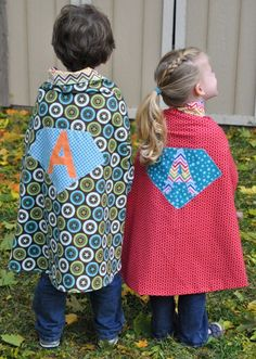 my kids need superhero capes...as well as photo props