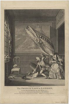La Françoise à Londres. The French Lady in London, or the Head Dress for the Year 1771 by peacay, via Flickr
