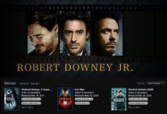 ALL the Robert Downey Jr. movies.