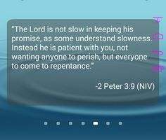 God is very patient with us !