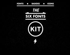 Six Fonts Kit by Noah Kinard on Creative Market