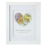 map of our hearts valentines day gift idea #personalized #gift