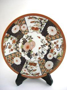 Japanese Imari Plate with Gold Trim